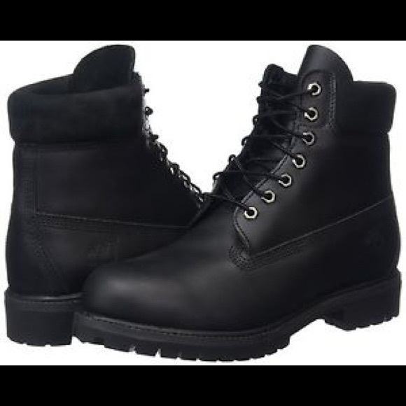 Timberland Shoes | Authentic Black Mens 6 Inch Boots | Poshmark